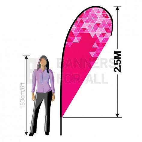 2.5m (8ft) Teardrop Banner