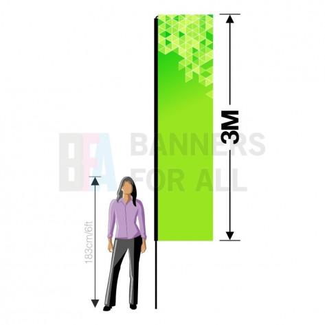 3m x 0.8m Flag Banner