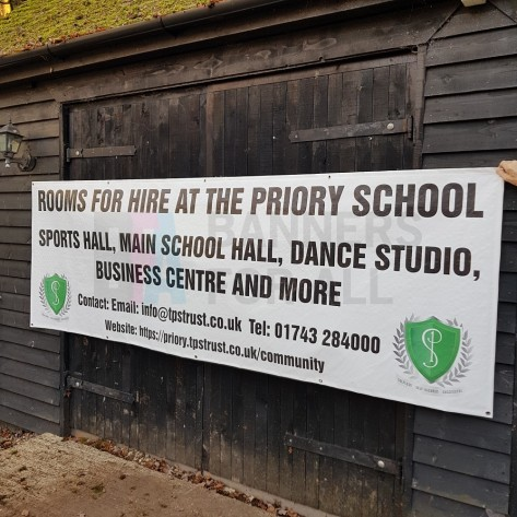 3m x 1m Priory School Recyclable Banner