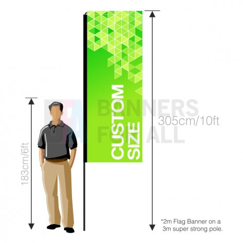 Custom flag banner graphic