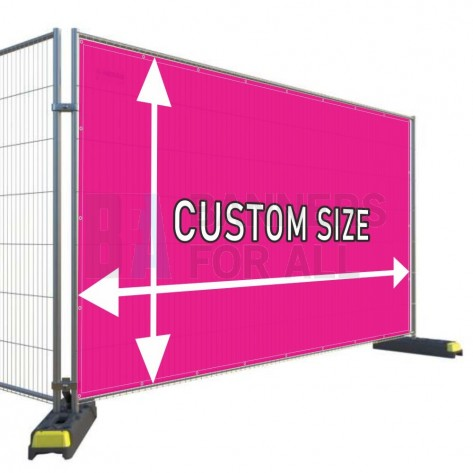 Custom Size Heras Airmesh Fabric Banner
