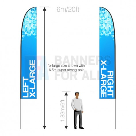 4.5m x 0.8m Feather Banner Handed Pair (LH+RH)