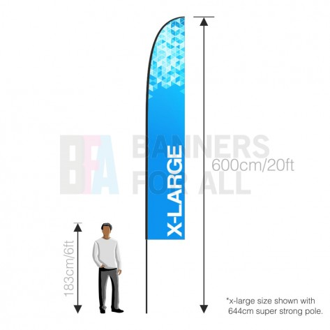 Feather Banner (Extra Large) 4.5m (Flying Banners)