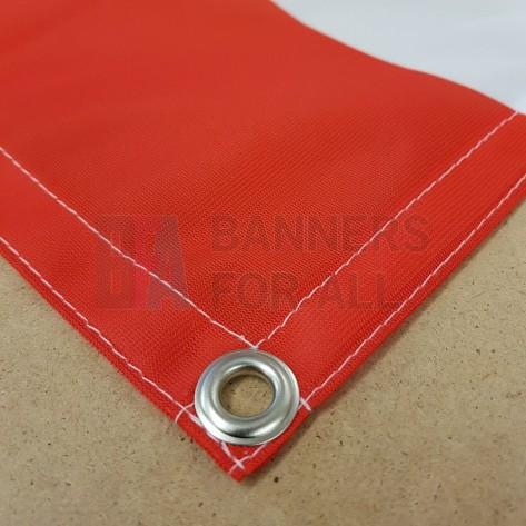 110gsm Custom Size Fabric Banner with hems and eyelets