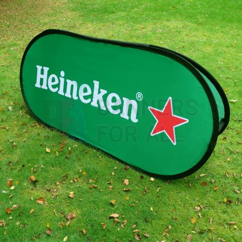 Medium Horizontal (Oval) Pop Up Banner