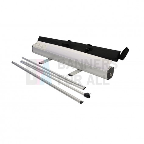 0.8m Primo roller banner stand with pole and bag