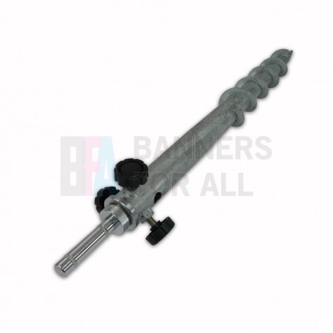 Screw in Ground Stake with 14.6mm Rotating Spindle