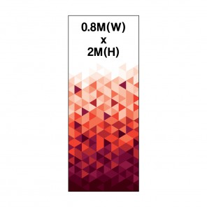 0.8m Roller Banner Graphic 300 Micron Stop Light