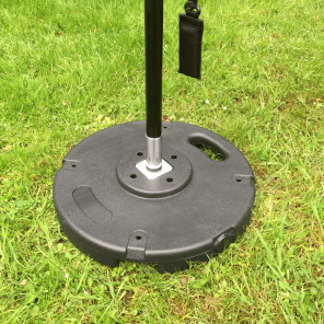 Stackable 10kg plastic coated concrete base for use with flags and banners.