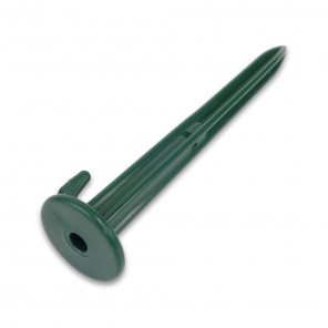 25cm Plastic Ground Stake with 10mm Internal Hole (Green)