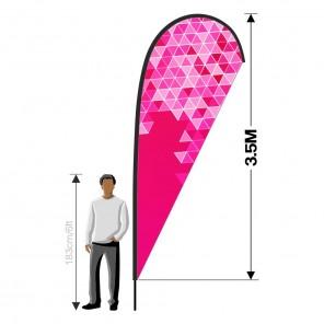 3.5m Teardrop Banner