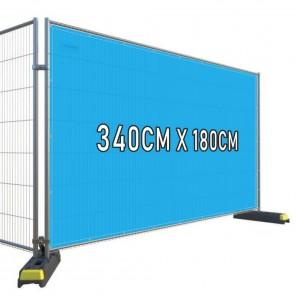 3.4m x 1.8m Heras Airmesh Fabric Banner