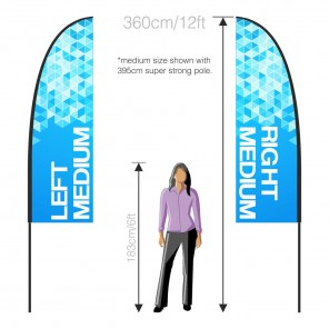 2.5m x 0.8m Feather Banner Handed Pair (LH+RH)