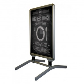 Outdoor Poster Stand suitable for forecourts and pavements.