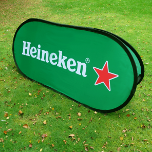 Medium Horizontal (Oval) Pop Up Banner