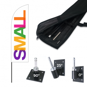 Small Feather Banner, 2.6m Push Fit Pole and Bracket