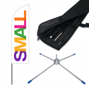 Small Feather Banner, 2.6m Push Fit Pole and Folding Cross Base