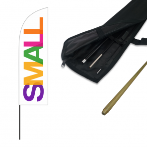 Small Feather Banner, Push Fit Pole and Simple Ground Stake