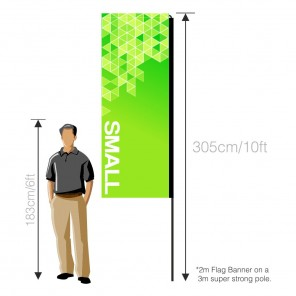 Flag Banner (Small) 2m - Double Sided