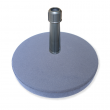 Concrete base with parasol adapter