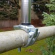 Scaffold/Handrail Flagpole Bracket with 14.6mm Spindle